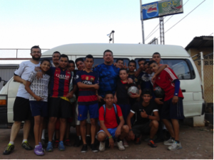 Part of our Boys Youth Group - ready for futbol